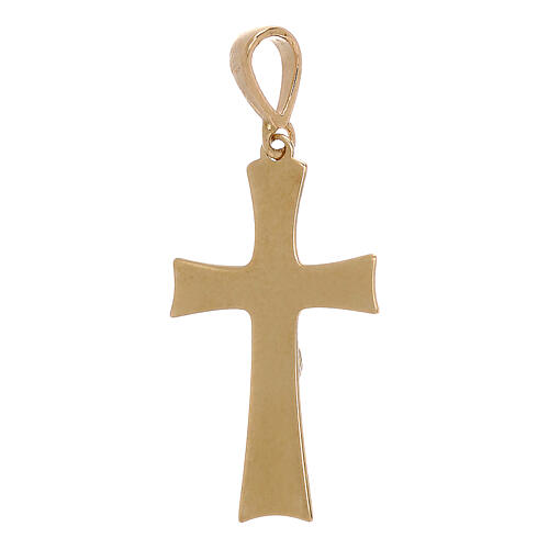 Cross pendant with Christ in 18 kt gold 0.85 gr 2