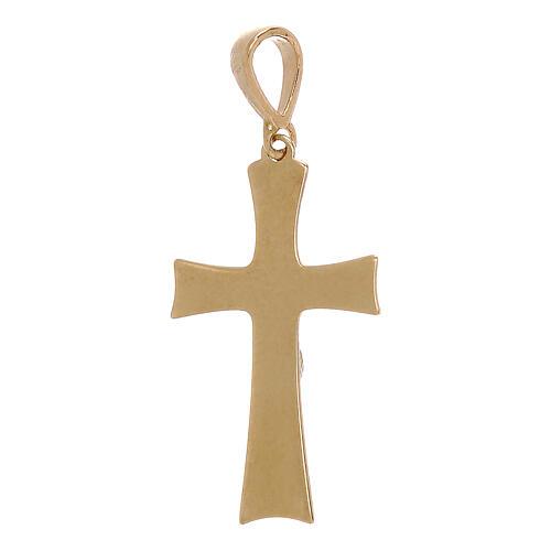 Pendentif croix plaque Christ or 18K 0,85 gr 2