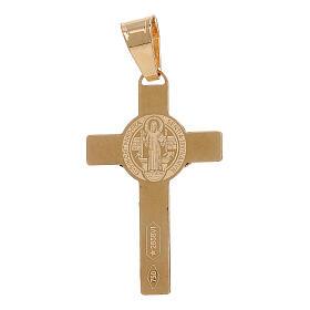 Pendente Croce San Benedetto oro giallo 750/00 1 gr s2