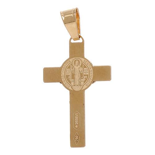 Pendente Croce San Benedetto oro giallo 750/00 1 gr 2