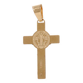 Pendant Saint Benedict Cross 750/00 yellow gold 1 gr s2