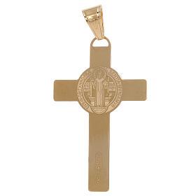 Croix pendentif Saint Benoît laser or 18K 2,4 gr s2