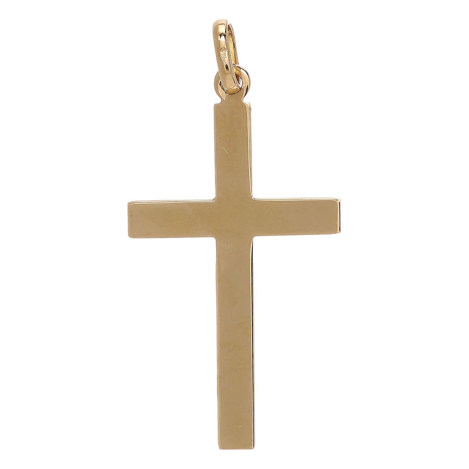 Colgante cruz oro amarillo 750/00 motivo flecha 1,1 gr 4