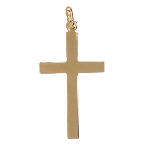 Pendente croce oro giallo 750/00 decoro freccia 1,1 gr 2
