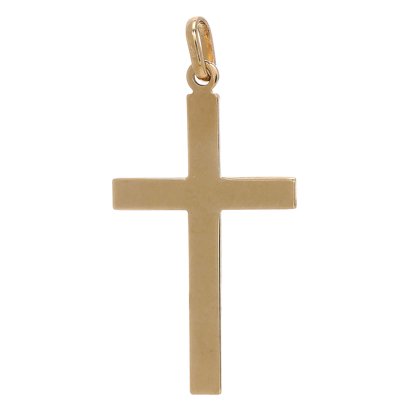 Colgante cruz detalle red oro bicolor 18 quilates 1,15 gr 4