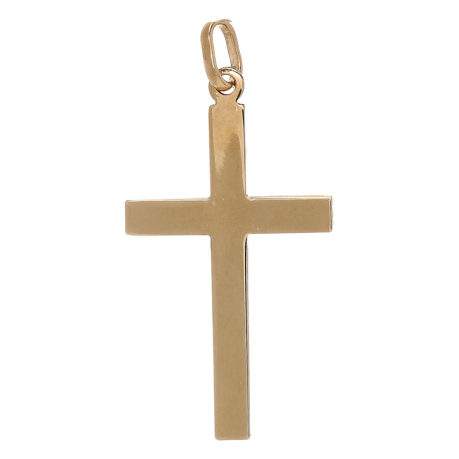 Cruz colgante motivo rayas oro amarillo 750/00 1,1 gr 4