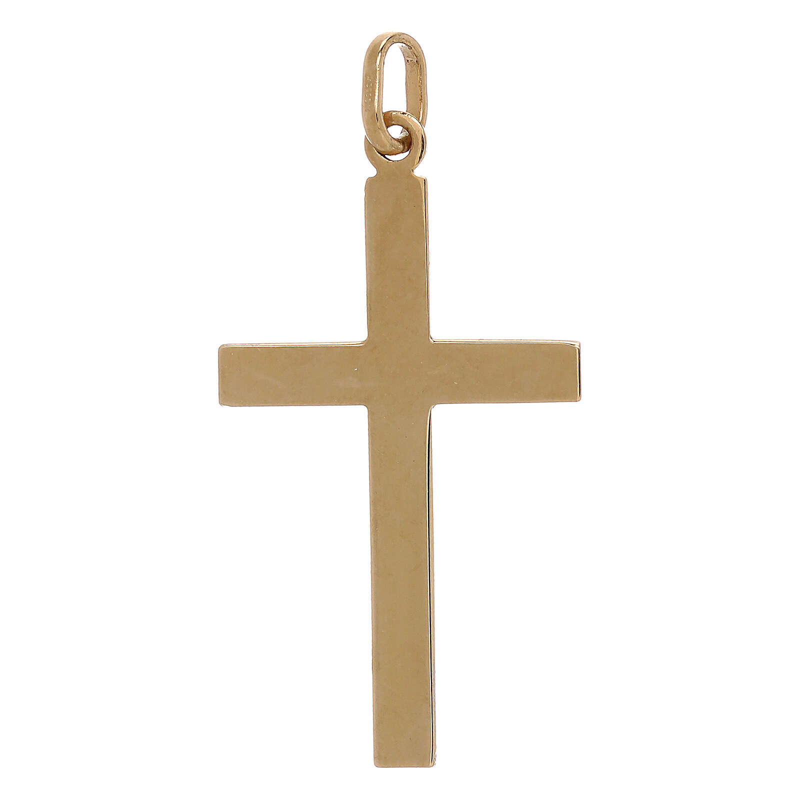 Cruz bicolor extremidades rayas oro 750/00 1,1 gr 4