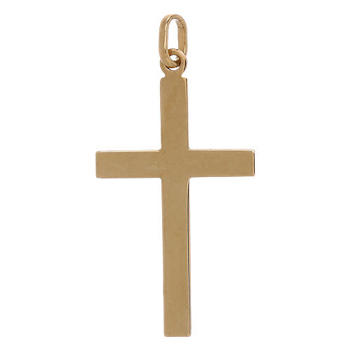 Cruz bicolor extremidades rayas oro 750/00 1,1 gr 2