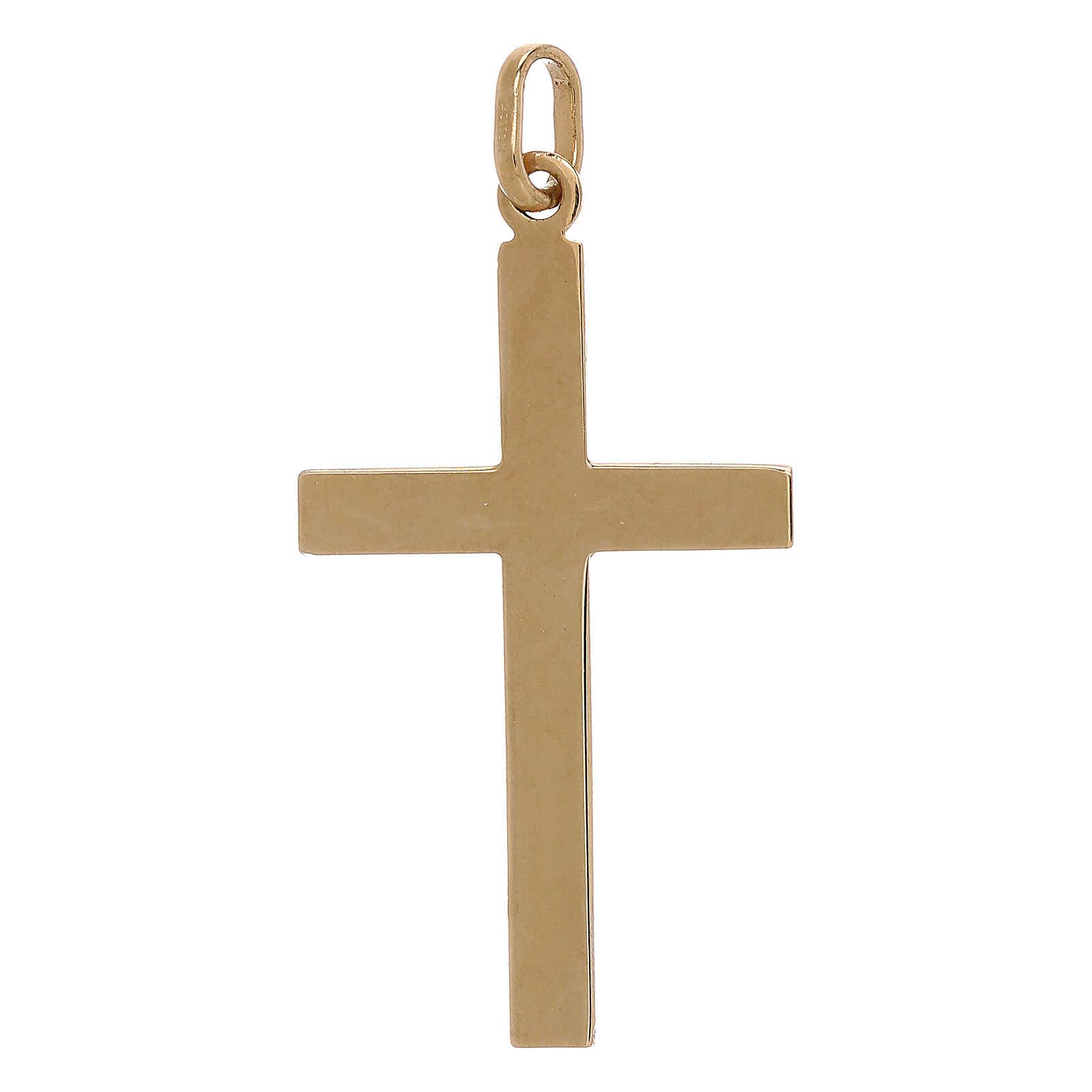 Bicolor cross lined ends 750/00 gold 1.1 gr 4
