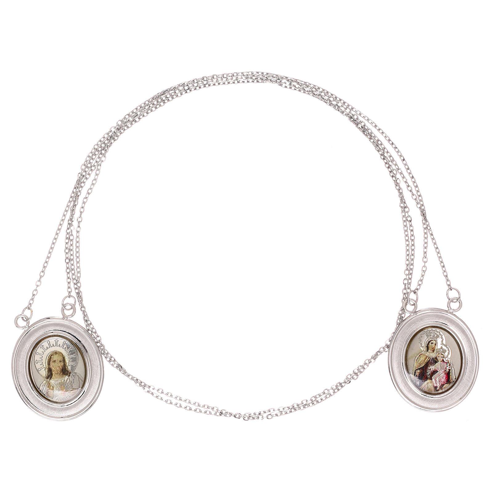 Vatican scapular color images 18-carat white gold 4.8 gr 4