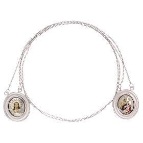 Vatican scapular color images 18-carat white gold 4.8 gr s3