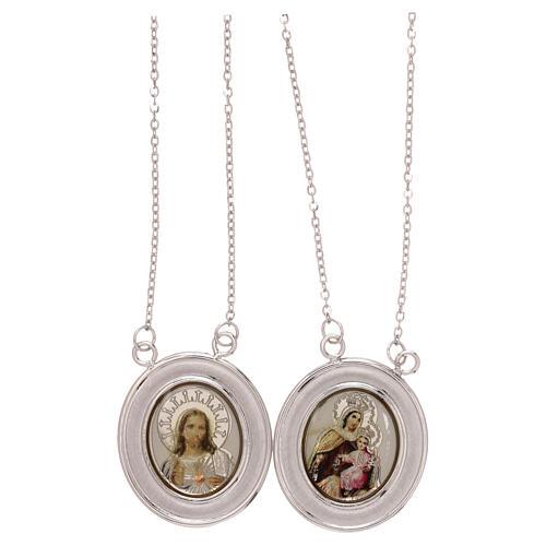 Vatican scapular color images 18-carat white gold 4.8 gr 1