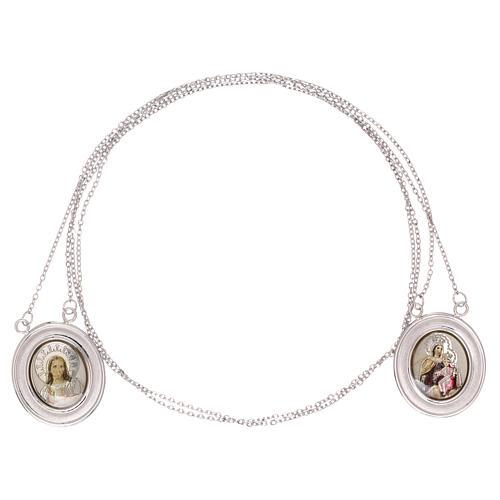 Vatican scapular color images 18-carat white gold 4.8 gr 3