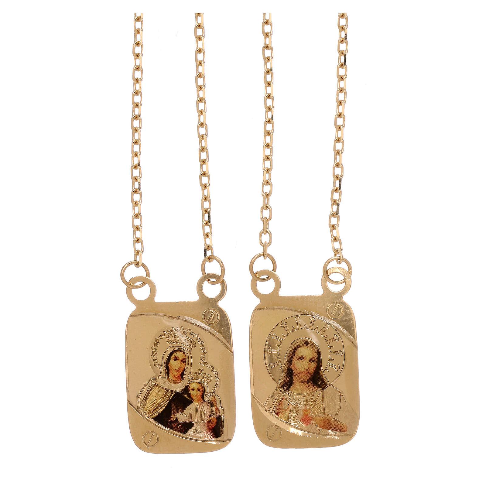 Scapolare oro giallo 18 kt a colori Vaticano 5,2 gr 4