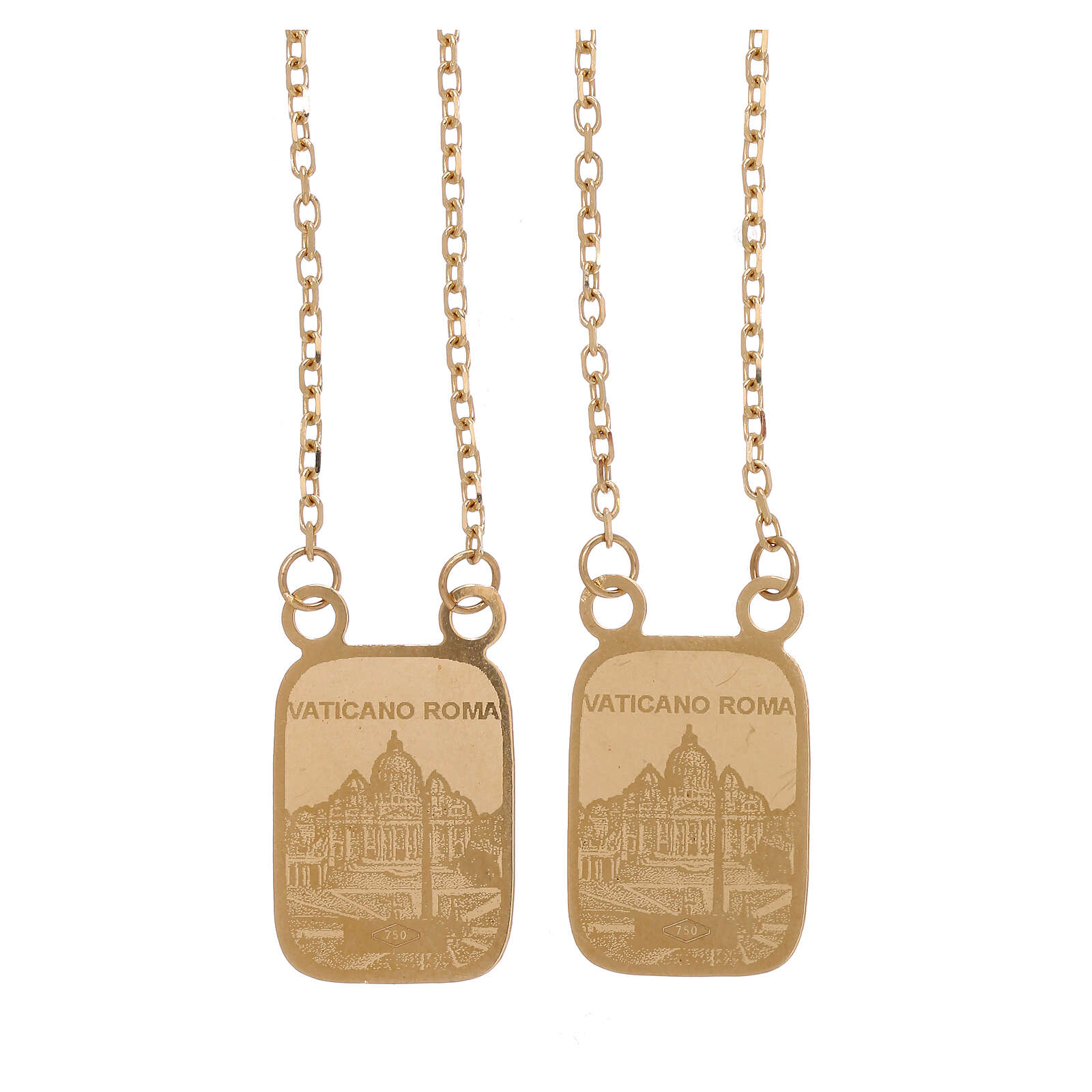 Vatican scapular color medals 18-carat yellow gold 5.2 gr 4