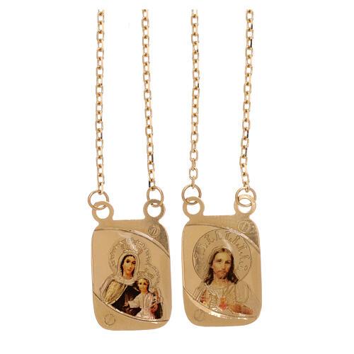 Vatican scapular color medals 18-carat yellow gold 5.2 gr 1