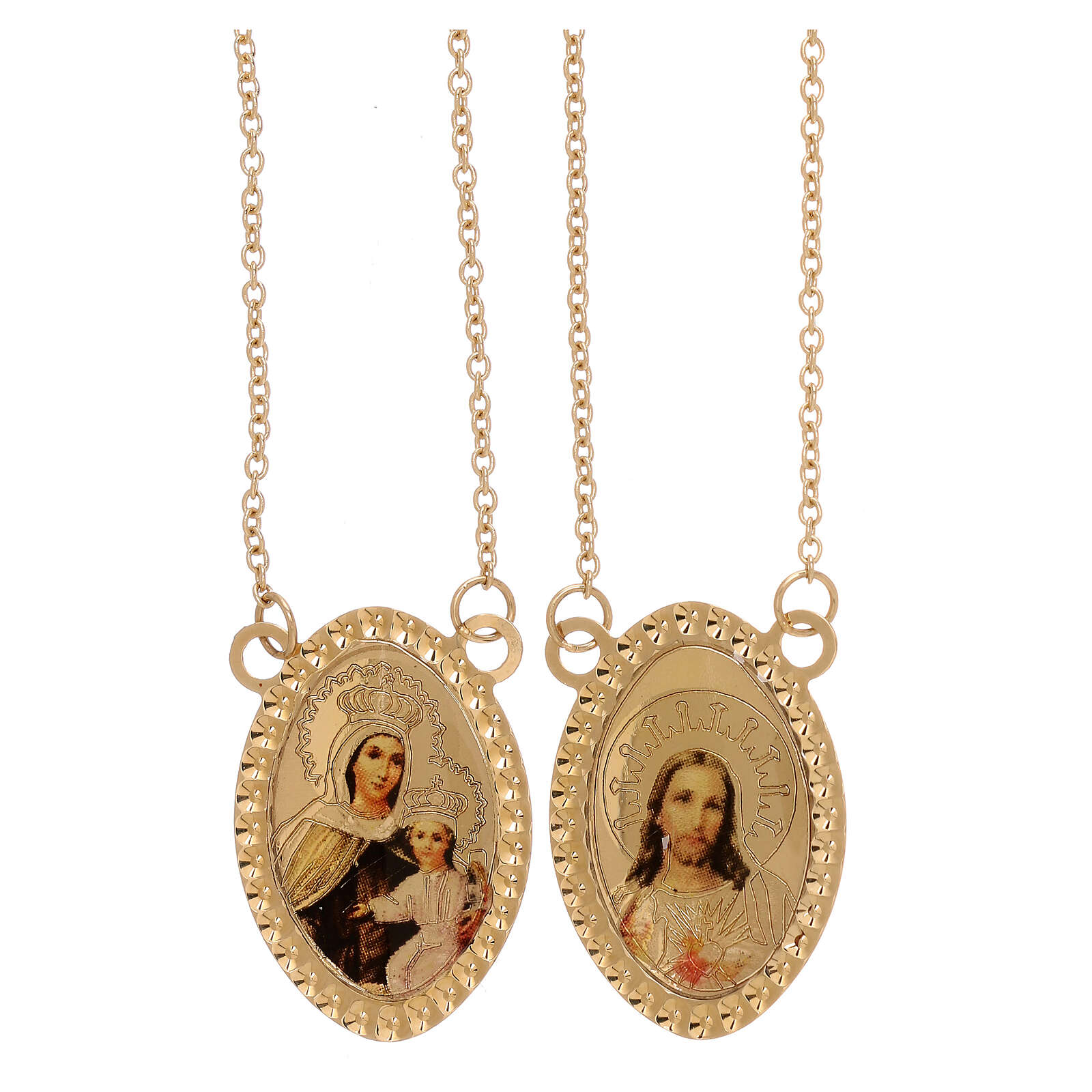 Scapular color images 750/00 yellow gold 4.85 gr 4