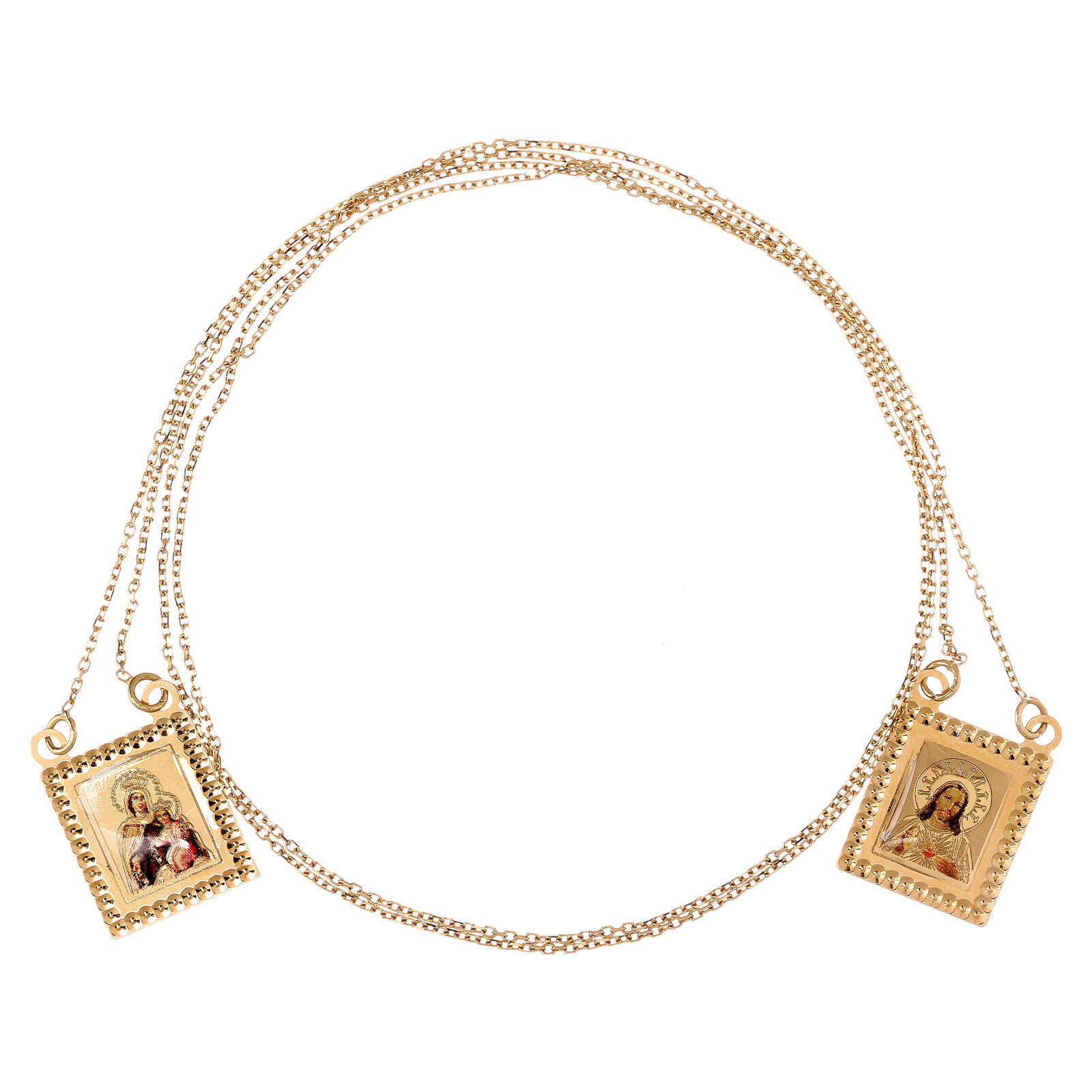 Skapulier Gold 750/00 mit Kette 70cm 4.5gr 4
