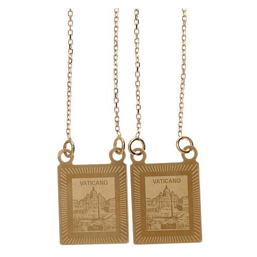 Skapulier Gold 750/00 mit Kette 70cm 4.5gr 2