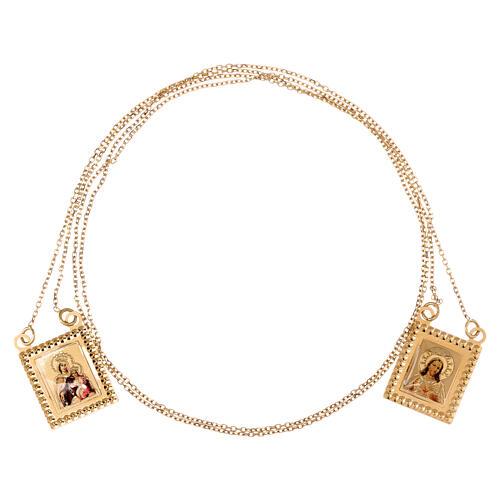 Skapulier Gold 750/00 mit Kette 70cm 4.5gr 3