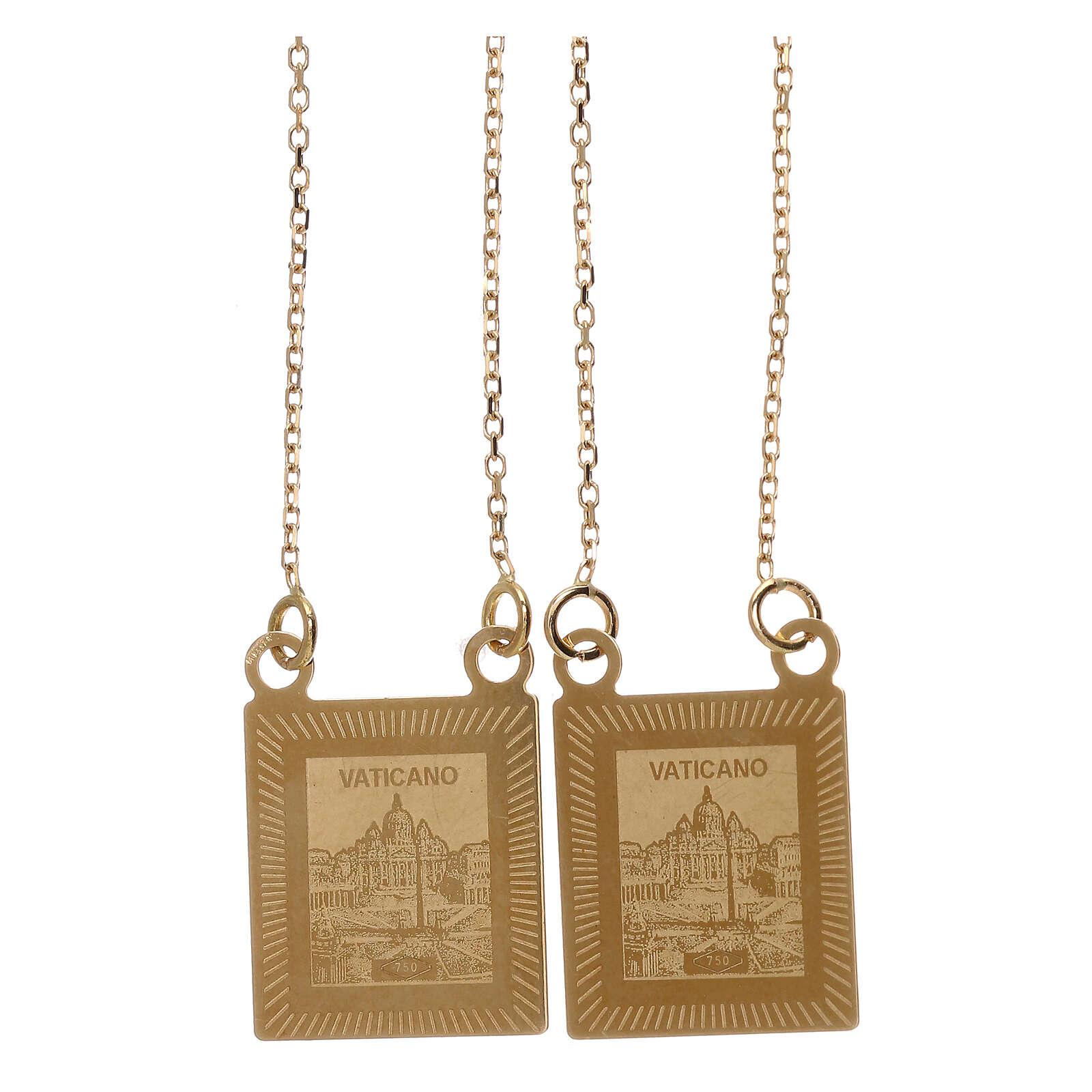 Scapular 750/00 gold color images 27 1/2 in 4.5 gr 4