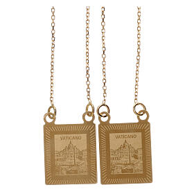 Scapular 750/00 gold color images 27 1/2 in 4.5 gr s2