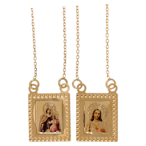 Scapular 750/00 gold color images 27 1/2 in 4.5 gr 1