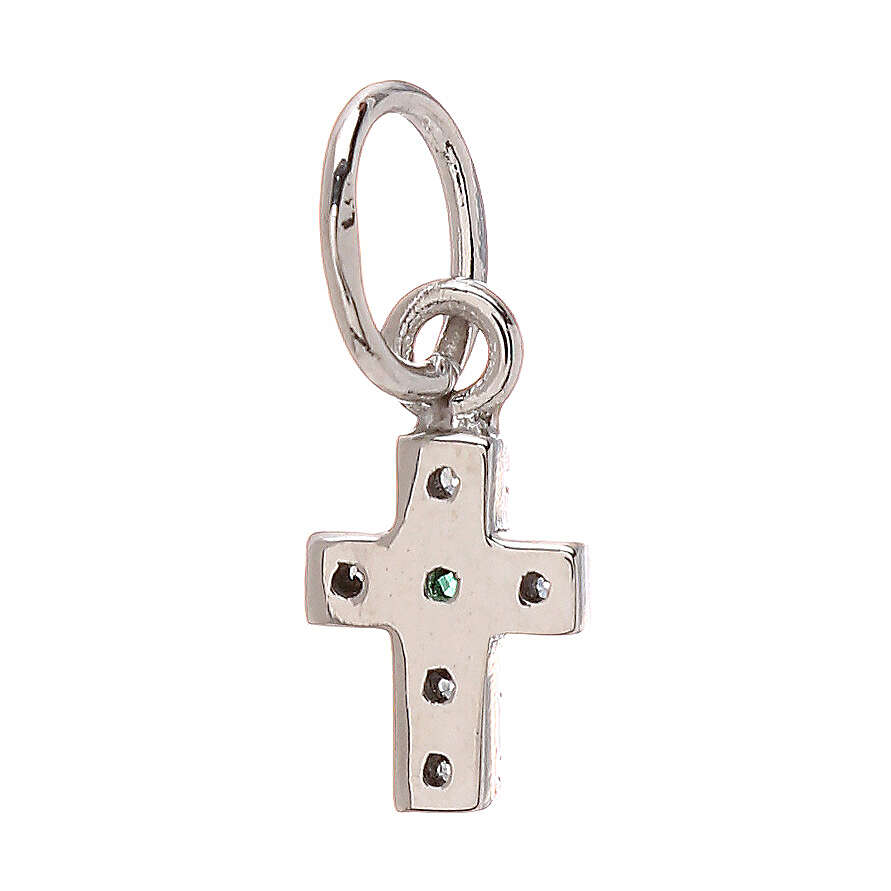 Pendant tiny cross Swarovski 18-carat white gold 0.45 gr 4