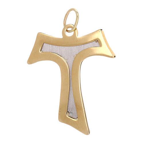 Colgante Tau oro bicolor 750/00 interior satinado 2,15 gr 2