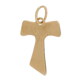 Tau pendant 18-carat yellow gold wood effect 0.7 gr s2