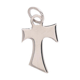 Tau pendant 18-carat polished white gold 0.5 gr s2