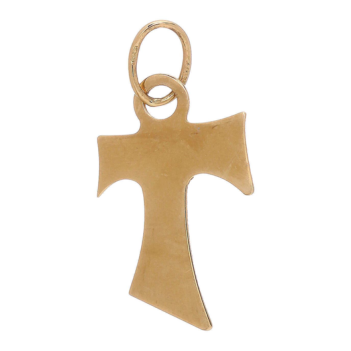 Ciondolo Tau oro giallo 750/00 lucido 0,7 gr 4