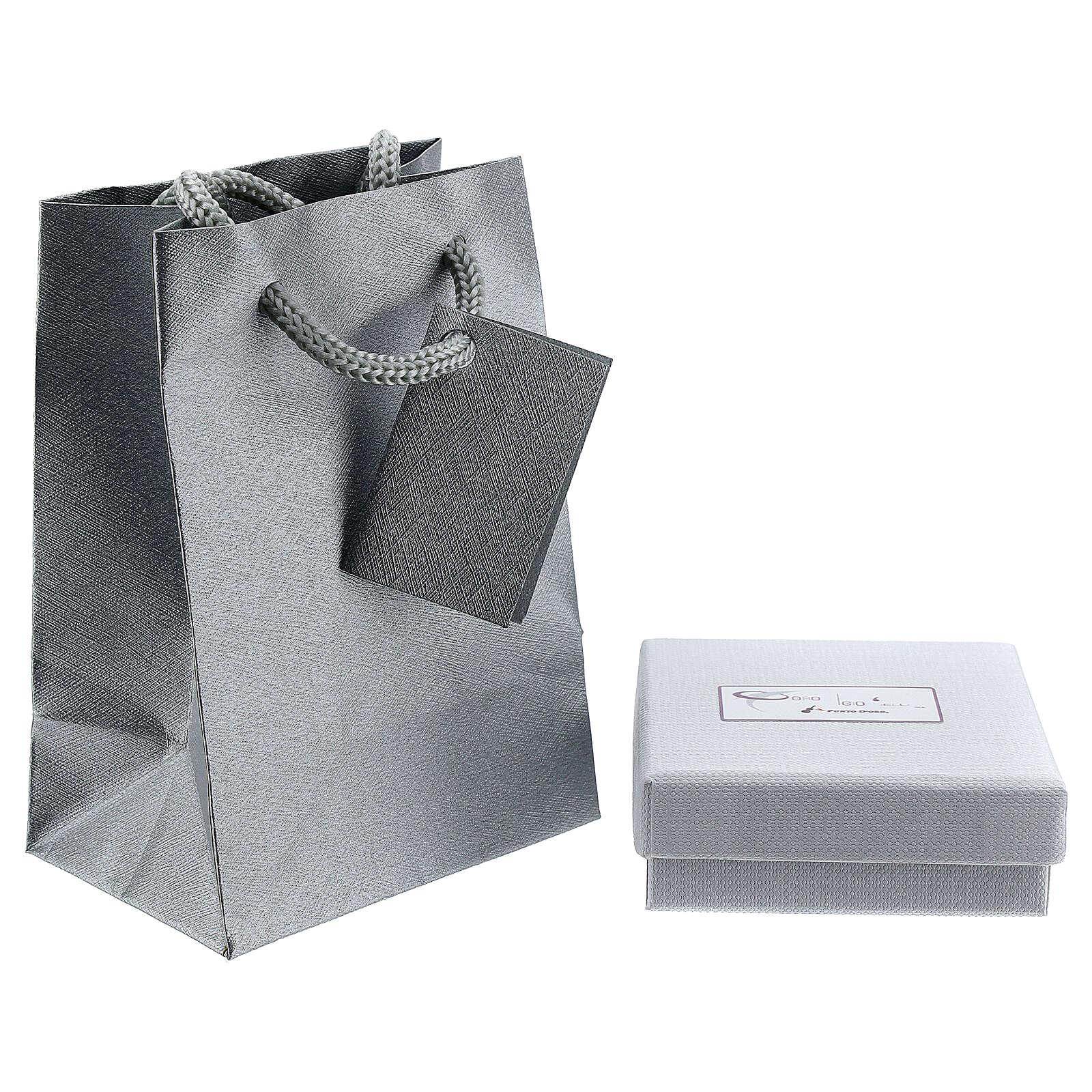 Mini pendentif Tau or blanc 750/00 satiné 0,2 gr 4
