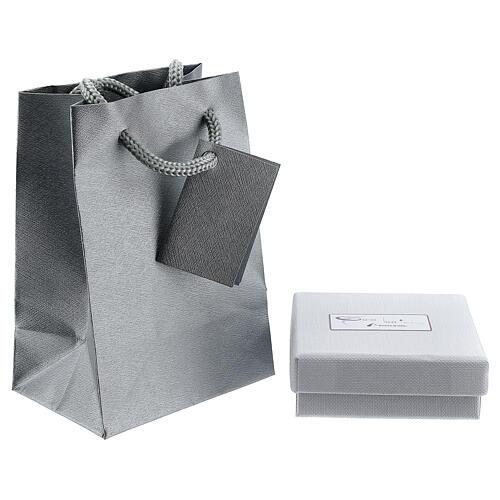 Mini pendentif Tau or blanc 750/00 satiné 0,2 gr 3