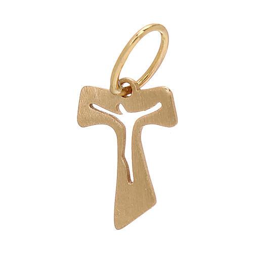 Mini Tau oro amarillo efecto madera 18 k 0,15 gr 2