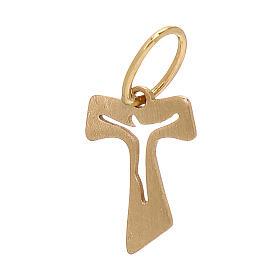 Mini Tau oro giallo effetto legno 18 kt 0,15 gr s2