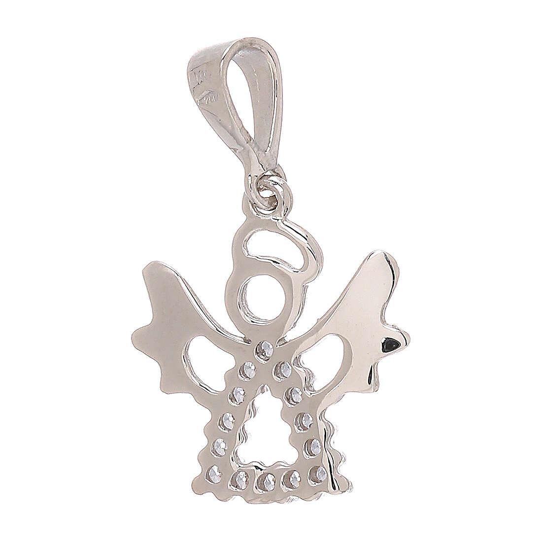Angel pendant Swarovski 18-carat white gold perforated 4