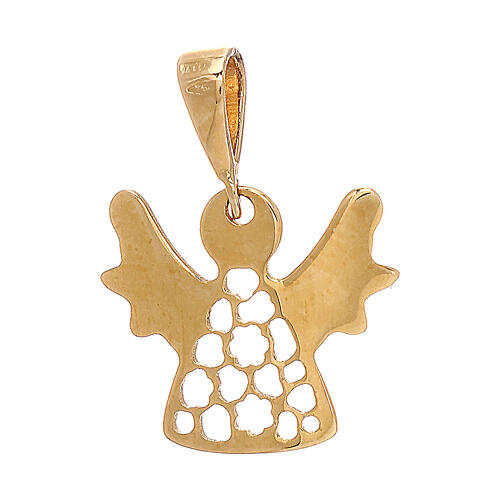 Pendente angioletto traforato oro giallo 18 kt lucido 0,7 gr 2