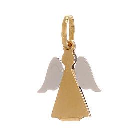 Pendentif or 750/00 bicolore ange stylisé 0,9 gr s1