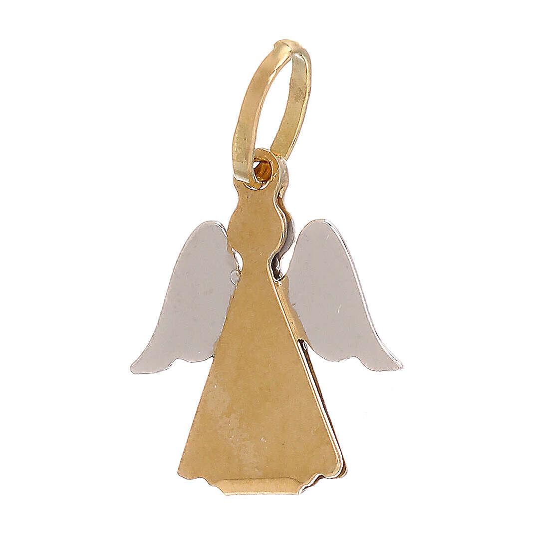 Pendente oro 750/00 bicolore angelo stilizzato 0,9 gr 4