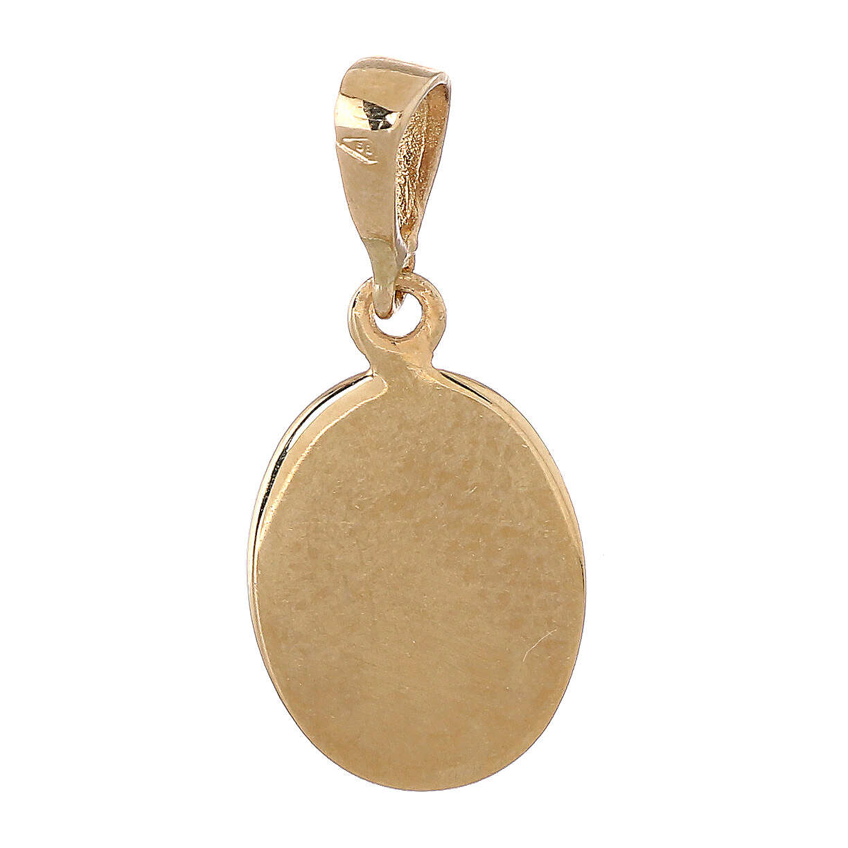 Oval pendant two finishes angel 18-carat gold 0.7 gr 4