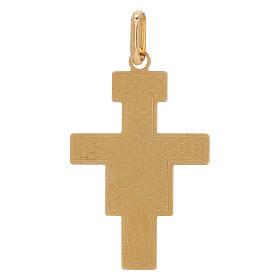 Pendente Crocefisso San Damiano oro 750/00 1,45 gr s2