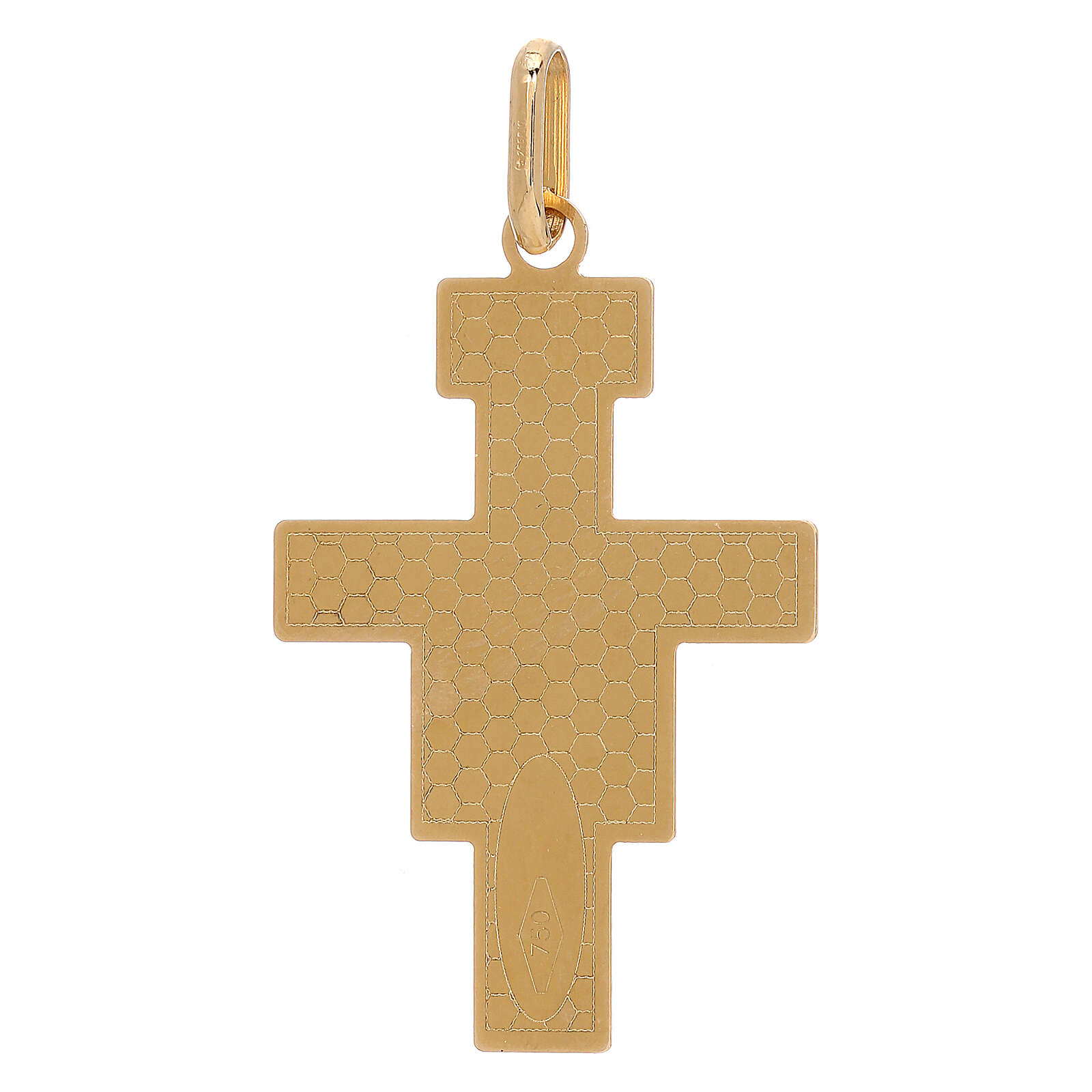Pendant San Damiano cross 750/00 gold 1.45 gr 4