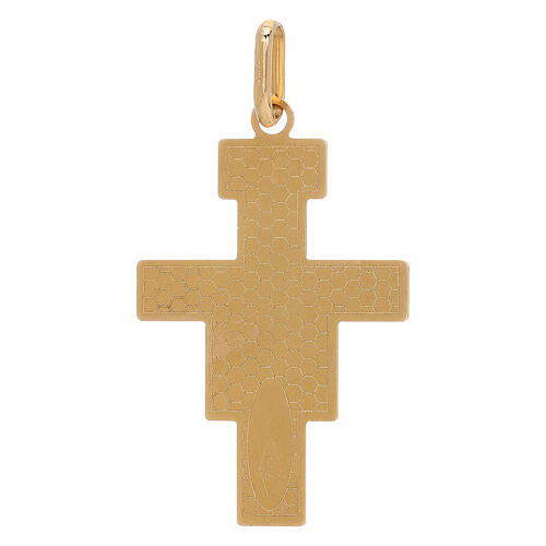 Pendant San Damiano cross 750/00 gold 1.45 gr 2