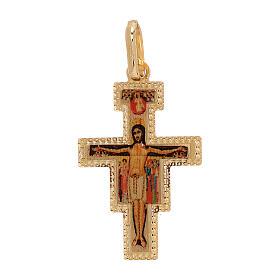 Pendentif Croix Saint Damien or 18K 1 gr s1