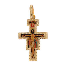 Pendant San Damiano cross 18-carat gold 1 gr s1