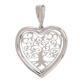 Pendente cuore Albero Vita oro bianco 750/00 1,5 gr s1