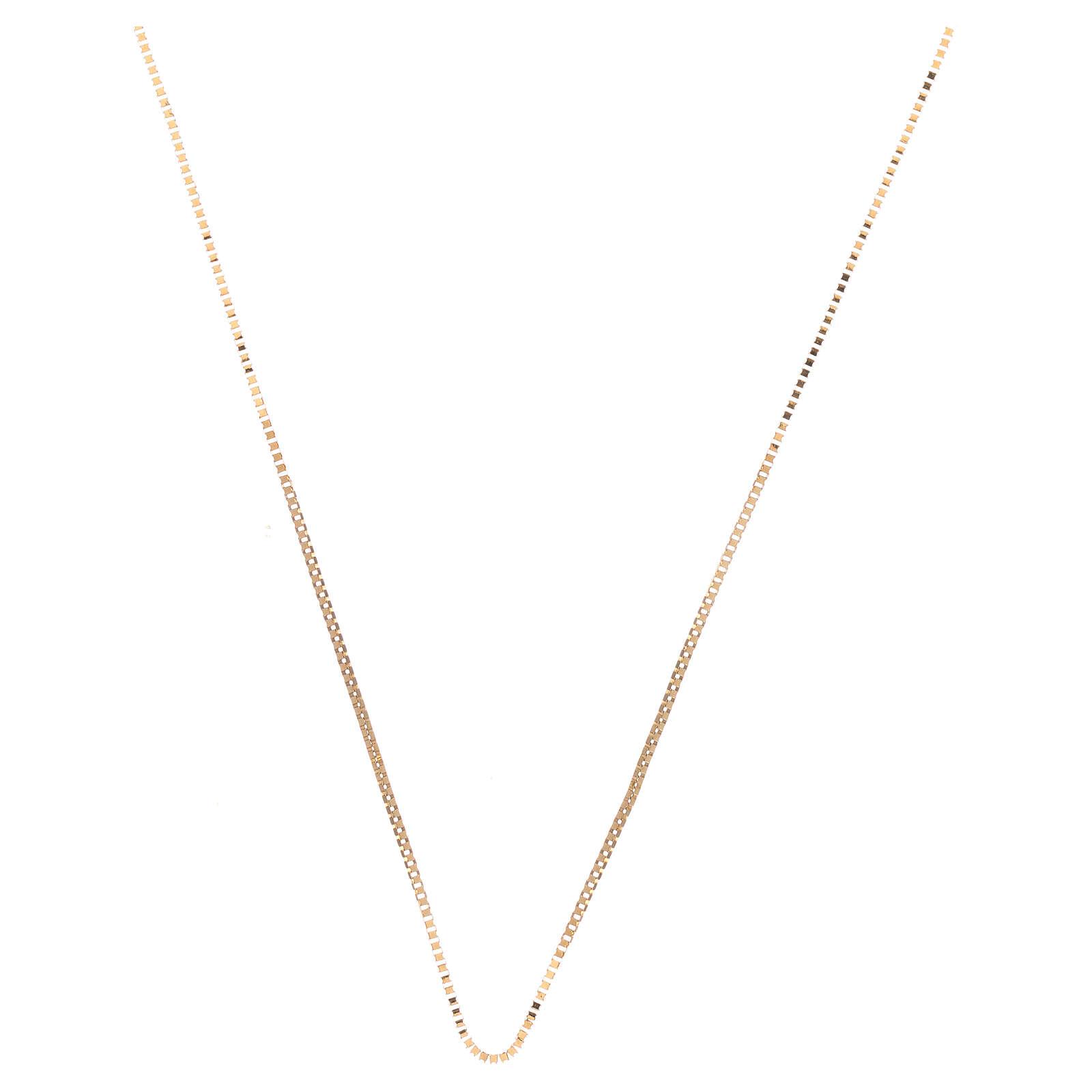 Box chain 18-carat yellow gold 16 1/2 in 4