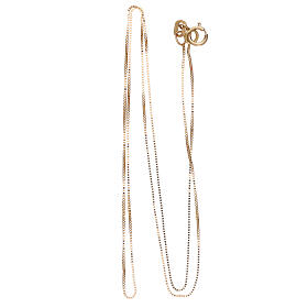 Box chain 18-carat yellow gold 16 1/2 in s2