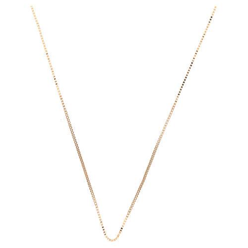 Box chain 18-carat yellow gold 16 1/2 in 1